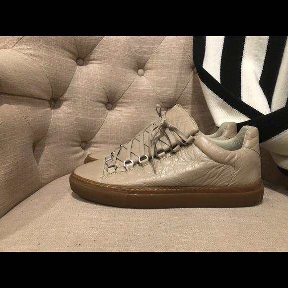 0b6085f56453 Balenciaga Other - Balenciaga Men s Arena Leather Low-Top Sneaker